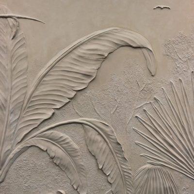 Bas-relief sculpture materials: Scagliola
