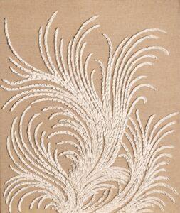 contemporary-relief-art-linen-acanthus-pigmentti
